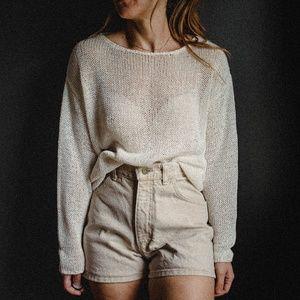 Vintage Beige Denim Shorts